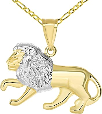 14K Yellow Gold 3-D Cat Pendant on an Adjustable 14K Yellow Gold Chain Necklace