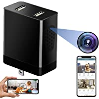 Wireless WiFi Camera, Side View HD 1080P Mini Hidden Spy Camera Charger with Live Feed WiFi, Spy Hidden Nanny Cam…