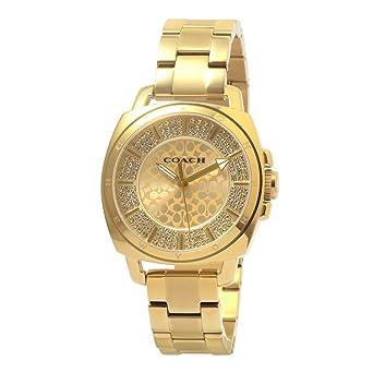 429ec37d560 Amazon.com  Coach Womens 14501994 Mini Boyfriend Gold Tone Stainless ...