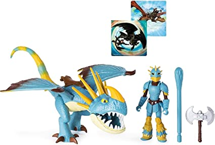 Dragon with Armored Viking Figure,... Stormfly and Astrid Dreamworks Dragons