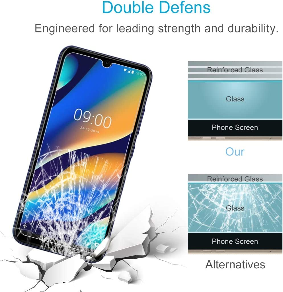 Wangl Mobile Phone Tempered Glass Film 50 PCS 0.26mm 9H 2.5D Tempered Glass Film for Wiko View3 Lite No Retail Package Tempered Glass Film