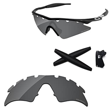 2b958b977b PapaViva Replacement Lenses   Rubber Kits for Oakley M Frame Sweep Vented  Black Grey - Polarized