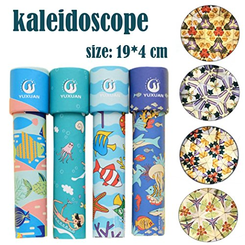 (Gbell Amazing Beautiful Rotating Kaleidoscope Rotation, Fancy World Baby Toy for Kids,Babies (A))