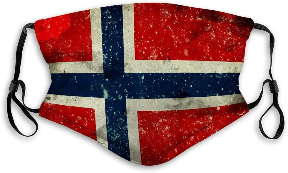 Olive Croft Face Cover Unisex Dust Covers Flag Norway Lovely Character