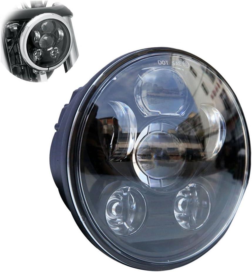 FREESOO 5-3//45.75 Proyector Faros Redondos LED Daymaker para Harley Davidson Kickfaire Motocicleta Proyector Luces 45W 9 LED 12V Faros Redondos Bombilla Blanco Iluminaci/ón L/ámpara de Aluminio