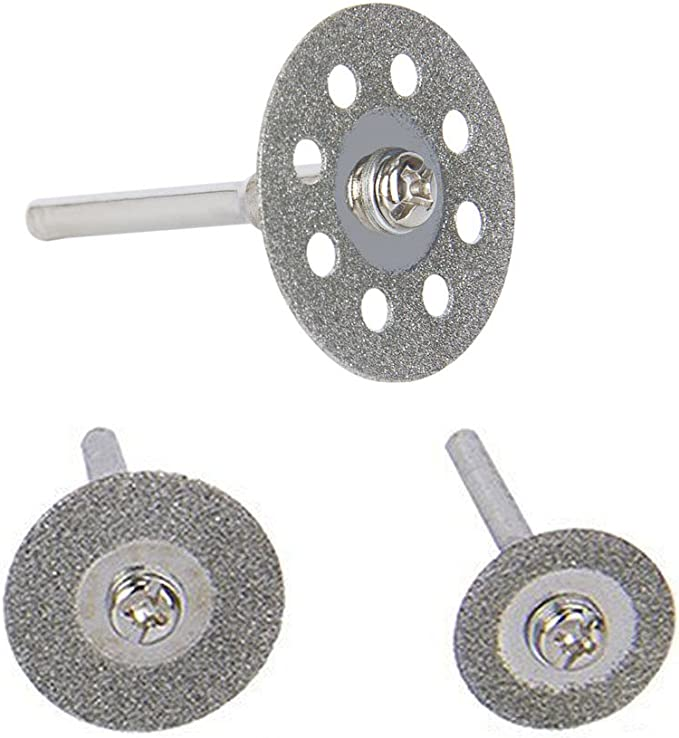 Loneflash 10PCS Double Sided Diamond Cutting Discs Set Tool Replacement 20mm//22mm//25mm//30mm