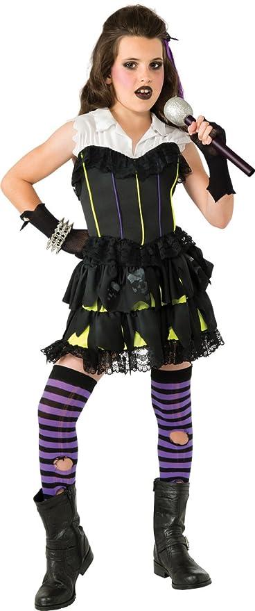 goth rock star costume large