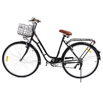 Paneltech 28 pulgadas 7 velocidad de Ciudad Bicicleta de ciudad para mujer hombre Paseo Citybike compras