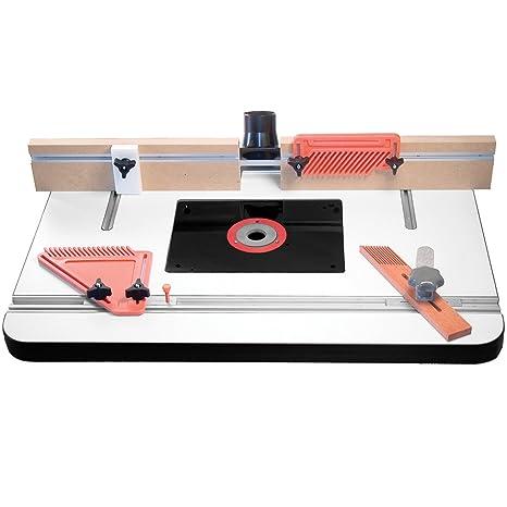 Amazon.com: Tabla de router Deluxe por Peachtree Woodworking ...