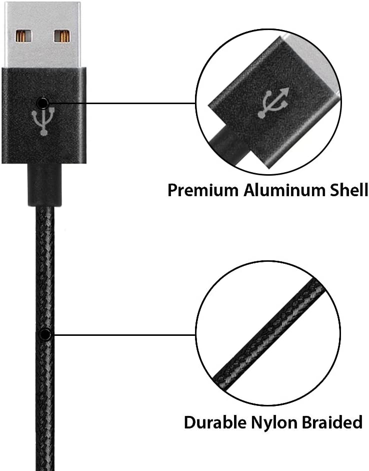 Vman ALIGC-4-B Durable Phone Charger Cable 1Ft 3Ft 6Ft 10Ft Multi 4 Pack Lightning Cord to USB Cable Compatible iPhone Xs X 8 7 6S 6 Plus Ipad Pro Air 4 Pack iPod and More Black