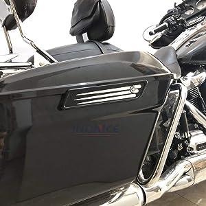 Deep Edge Cut Saddlebag hinge Covers for harley Touring FLHX FLHR FLHRXS FLHT FLHTKL Ultra Limited FLHTK CVO 2014-2019