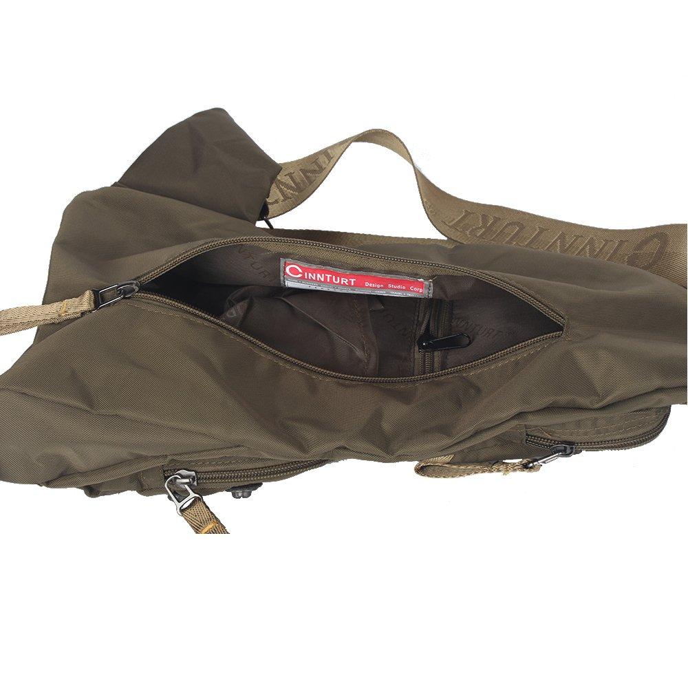 Innturt Nylon Sling Bag Daypack Travel Gym Backpack (S1-Army Green) by Innturt (Image #5)