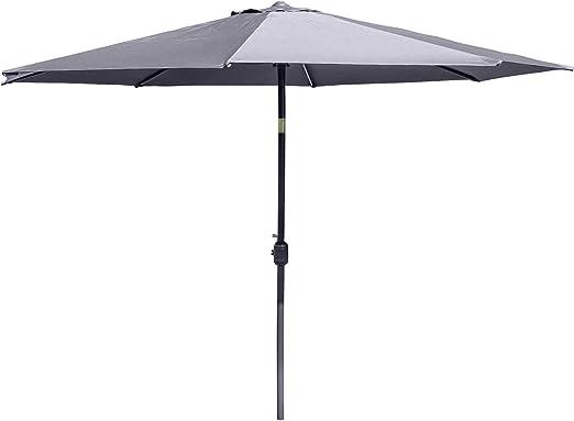 Parasol de jardín de 2, 5 m redondo de aluminio de cuerda sombrilla para patio de jardín paraguas para exteriores por Alfresia - elección de colores, gris: Amazon.es: Jardín