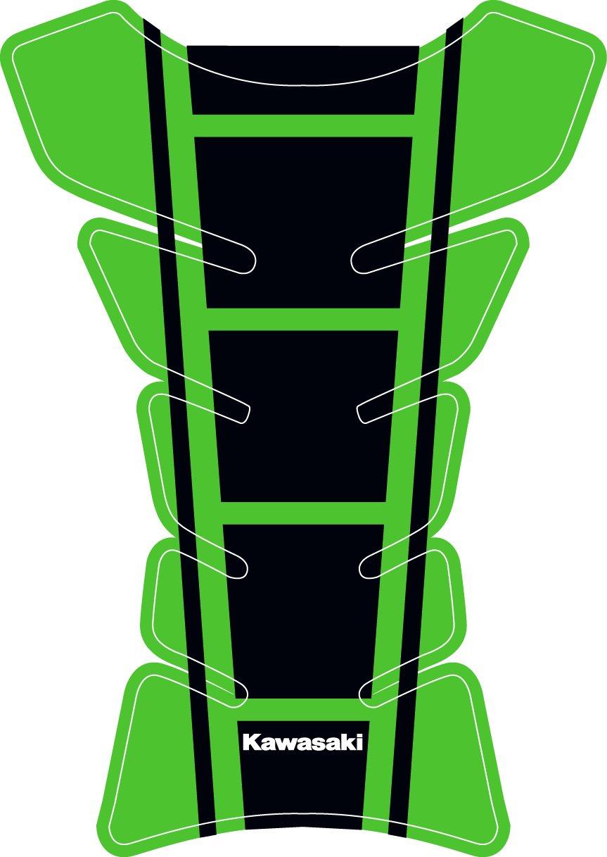 Kawasaki Universal Protective Fuel Tank Pad for Motorbikes Green 3D Studio
