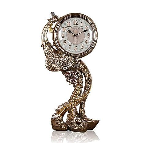 WW Reloj de mesa Fénix europeo Reloj Reloj de cabecera Reloj de ...