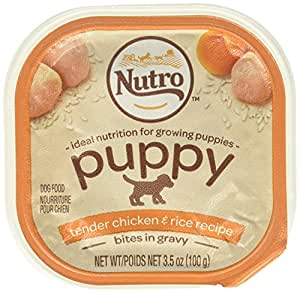 Nutro 50411779 Tender Chicken Oatmeal & Whole Brown Rice Stew Small Breed Puppy Food, 24 EA/3.5 oz