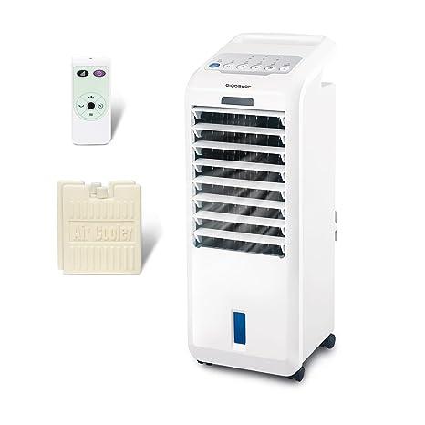 Aigostar Koud 33JTL - Climatizador evaporativo con mando a distancia, 55W, oscilante, 3 modos y 3 velocidades, temporizador 7 h, humidificador de aire, ...