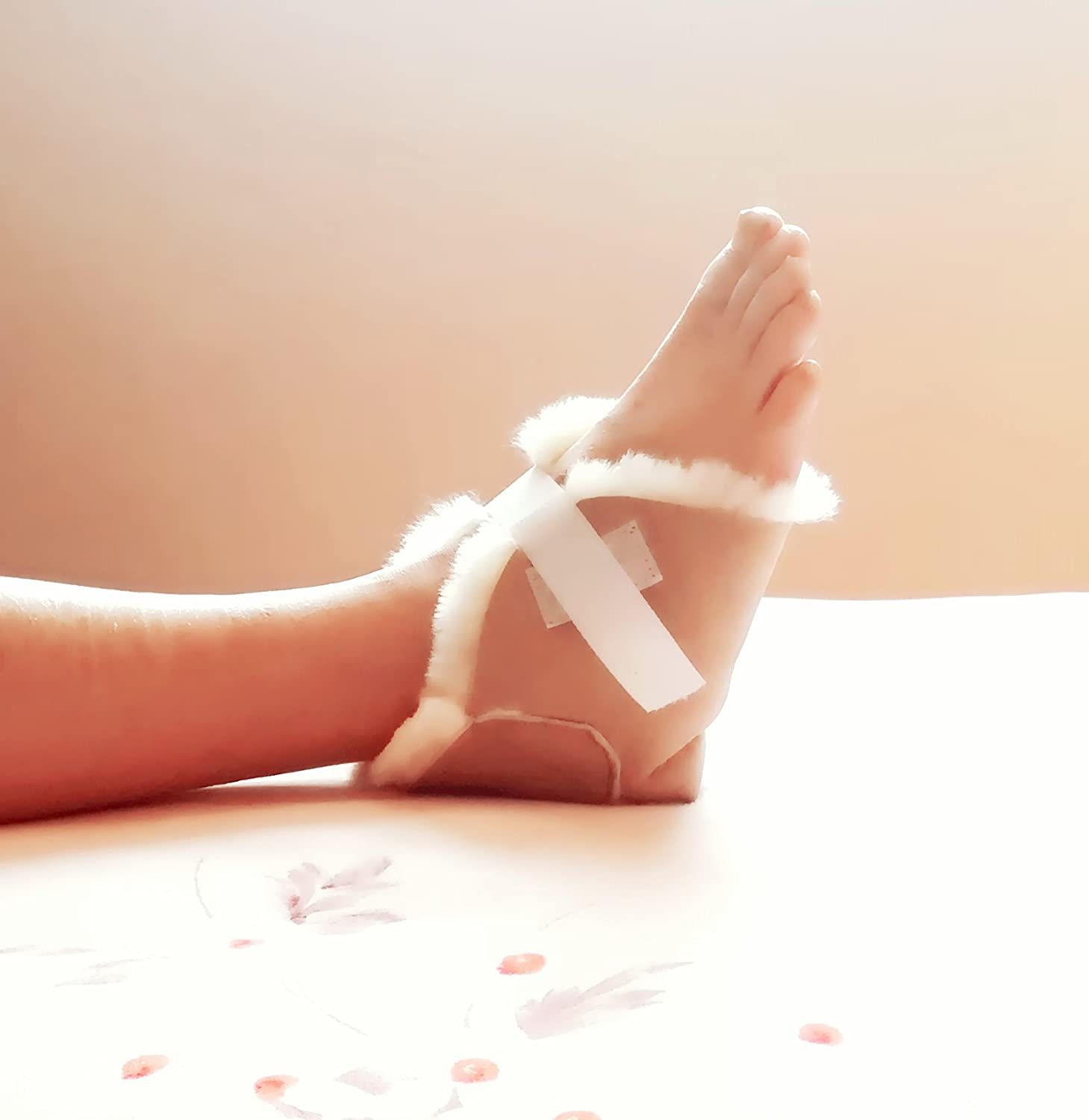 Kenley Heel and Foot Protectors - Sold Individually - Protect Feet, Heels & Elbows from Ulcers, Bed & Pressure Sores - Pain & Injuries Relief Pillows - 100% Genuine Lambskin Cushions Pads