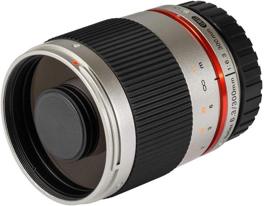 Samyang Reflex f//6.3 300mm Fujifilm X MILC Negro MILC, 9//9, 0,9 m, Fujifilm X, Manual, 30 cm Objetivo