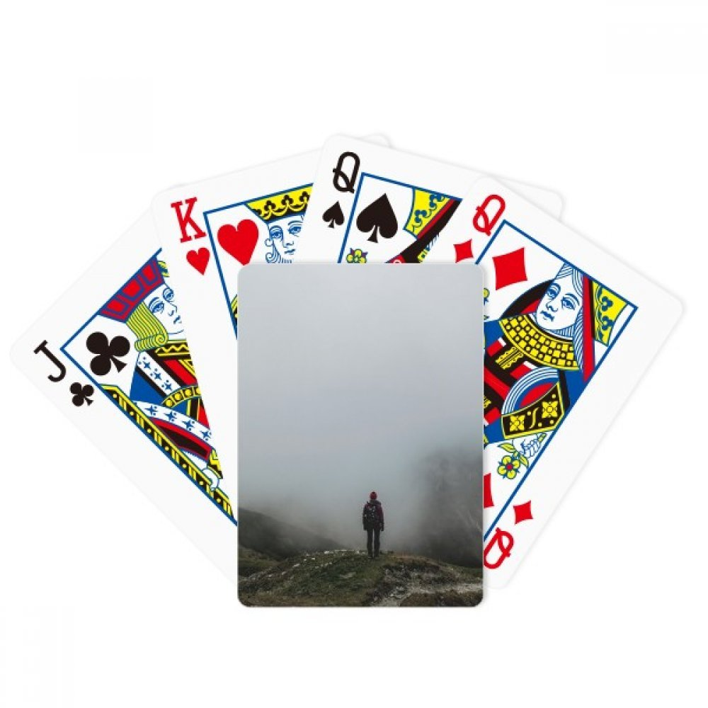 Fog Clouds Mountain Nature Travel Poker Playing Cards Tabletop Game Gift by beatChong