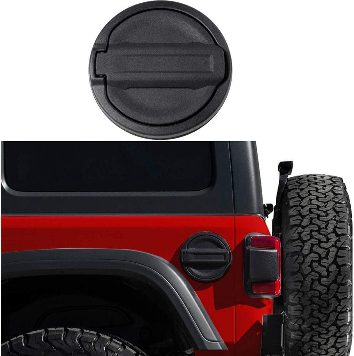 JeCar Gas Cap Cover Aluminum Fuel Filler Door for Jeep Wrangler 2018-2020 JL /& Unlimited Carbon Fiber Texture