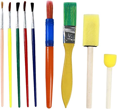 9pcs Kids Painting Drawing Sponge Paint Brushes Tool for Children Graffiti