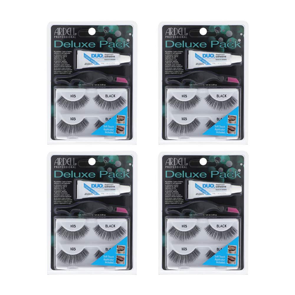 Ardell False Eyelashes Deluxe Pack 105 Black 4 Pack