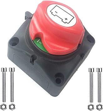Qiorange Batterie Trennschalter 12 48v 275 1250a On Off Akku Power Cut Off Schalter Für Marine Boot Caravan Kfz Fahrzeuge Type D 1 Stück Auto
