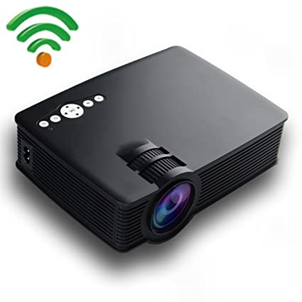 Smart Android Mini Projector, Gzunelic 2600 Lumens Wireless Portable LED Video Projector LCD Full HD Home Theater Proyector with Wireless synchronize ...