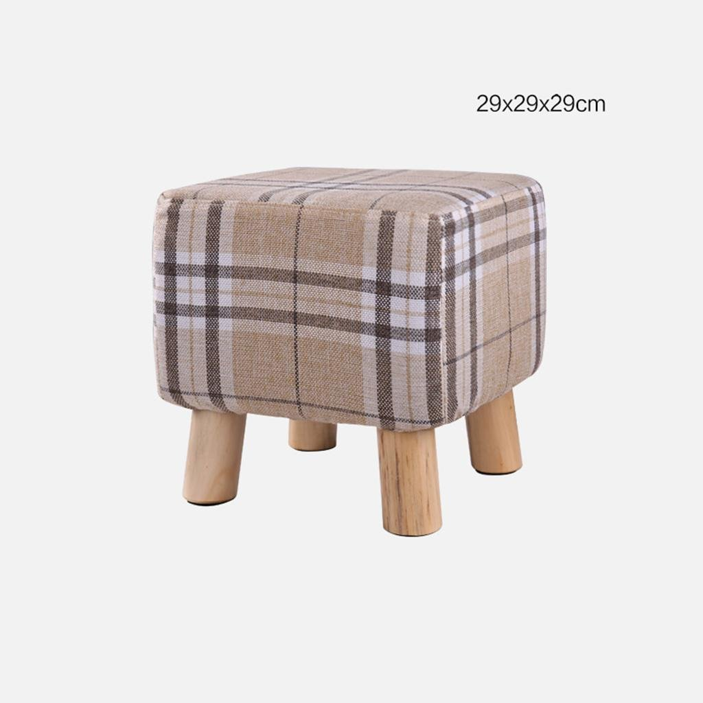 A paragraph - mig HETAO Fashion Solid Wood Small Stool shoes shoes Sofa Stool Low Bench Bench Household Long Bench, a Paragraph - Multicolor Triangular Cloth