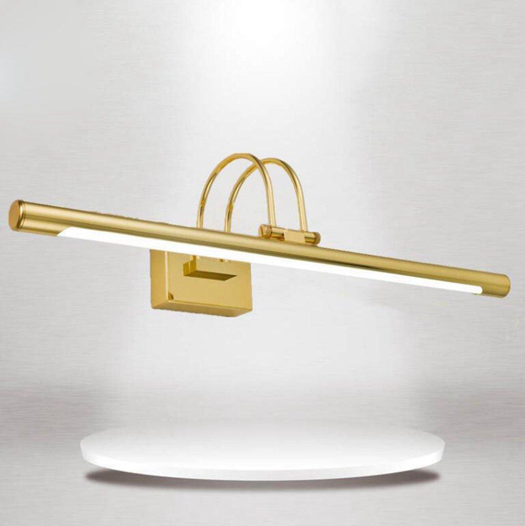 bianco Dimensioni:55cm Olydsky luce specchio bagno LDE luci di trucco specchio bagno fari anteriori Materiale:in acciaio inox Colore della luce