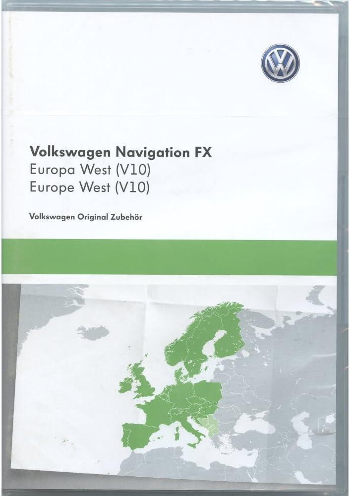 Volkswagen 3 C8051884dd - tarjeta SD de navegación V10 Europa RNS 310 Sistema de navegación FX Navi Software Original Volkswagen Update: Amazon.es: Coche y moto