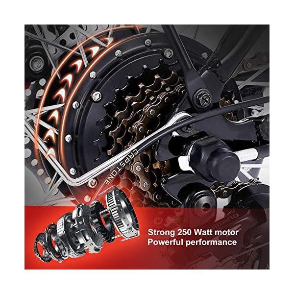 """BIKFUN Bicicletta Elettrica Pieghevole, Bici Elettriche 20"""", Motore 250W Batteria 36V 8Ah, Shimano a 7 velocità 7 spesavip"""