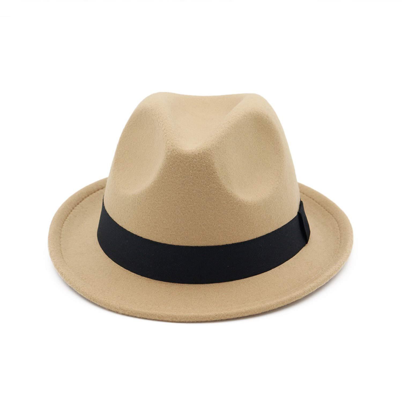 Vintage Felt top hat Fedora Hats Women Men Mens hat Wool Felt Hats DOSOMI