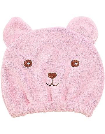 DQICE Sombrero de Pelo seco Kawaii Cartoon Bear Dry Sombrero de Toalla Absorbente súper Absorbente de
