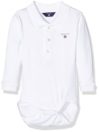 5be78d242f7 Gant Baby 0-24m The The Original Boy Pique Ls Body Bodysuit, White, 3 Years  (Size:36M): Amazon.co.uk: Clothing