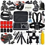 Erligpowht Accessories Bundle kit for SJ4000 / SJ5000 Cameras / GoPro Hero 3 2 1 4 3+ (27-Items)
