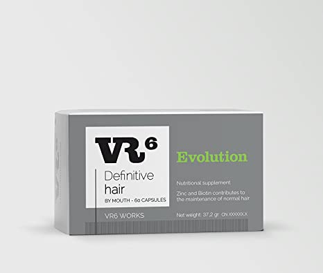 VR6 Definitive Hair Evolution Suplemento Nutricional - 60 Cápsulas