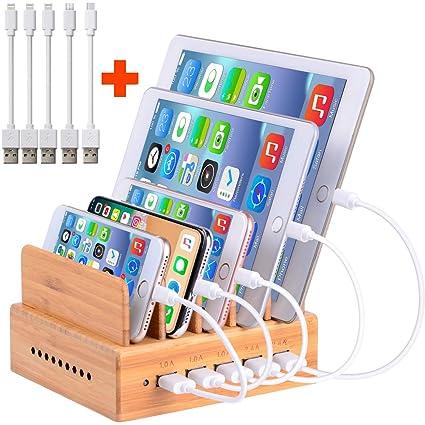 ghj nghj Handy Ladestation USB Ladegerät mehrfach Ladestation für mehrere  Geräte Smartphone Ladegerät für mehrere Handys USB Ladestation mehrfach aus  ...