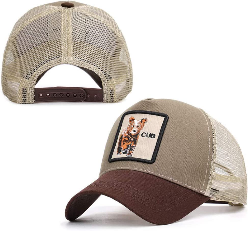 Animal Cap Gorilla Beaver Panther Bird Tiger Summer Baseball Cap Men Women Mesh Hat Breathable