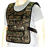 Seismic Sports - SS40VBK - Adjustable Weighted Vest 40 lb Camouflage for Crossfit, HIIT, Strength,  Cross Training and Cardio Exercise