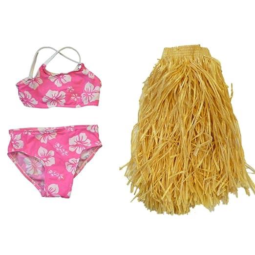 2c241f9d2163 Amazon.com  Sand N Sun Toddler Girls 3 Piece Swim Suit Pink Bikini ...