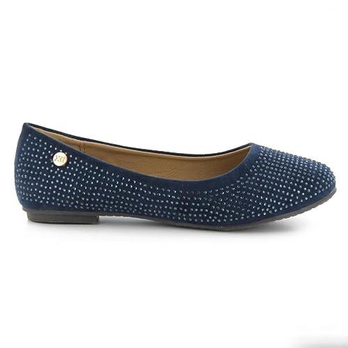 291a7208 Bailarinas de Niña XTI 53108 Antelina Navy Talla 29: Amazon.es: Zapatos y  complementos
