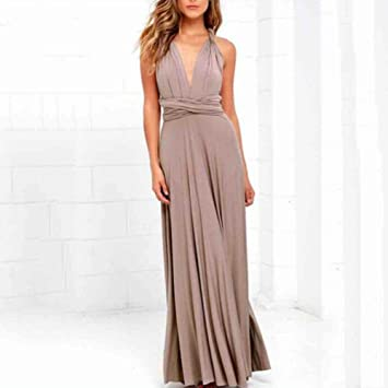 Sexy Long Dress Bridesmaid Formal Multi Way Wrap Convertible Infinity Maxi Dress Navy Blue Hollow Out