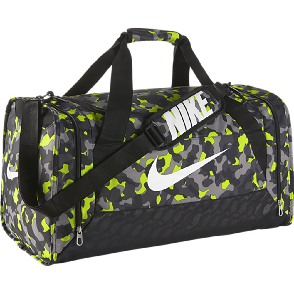 403fca9bf2df Nike Brasilia 6 Duffel Graphic Medium Duffel Volt Black White   Amazon.co.uk  Clothing