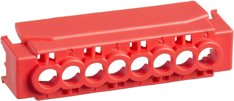 Kaedra capot ip2 pour bornier 8 trous rouge