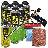 Dow Great Stuff Pro Pestblock Foam Sealant Kit with ProFoam Gun ,Copper Mesh and Gloves