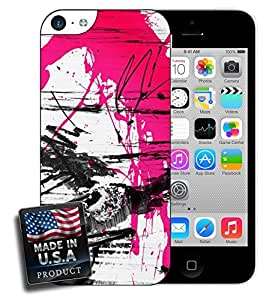 MMZ DIY PHONE CASEPink and Black Graffiti iPhone 5c Hard Case