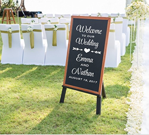 Welcome To Our Wedding Decal, Personalized Welcome Wedding D