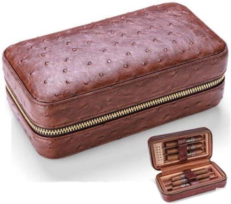 YUXINXIN Cigarrillos, Caso de Cava de Puros, Portátil Caja de cigarros de Cuba, 3 Palillos, Regalo, el Modelo de cocodrilo, Avestruz portátil Caja de Cigarrillo de la Piel,: Amazon.es: Jardín